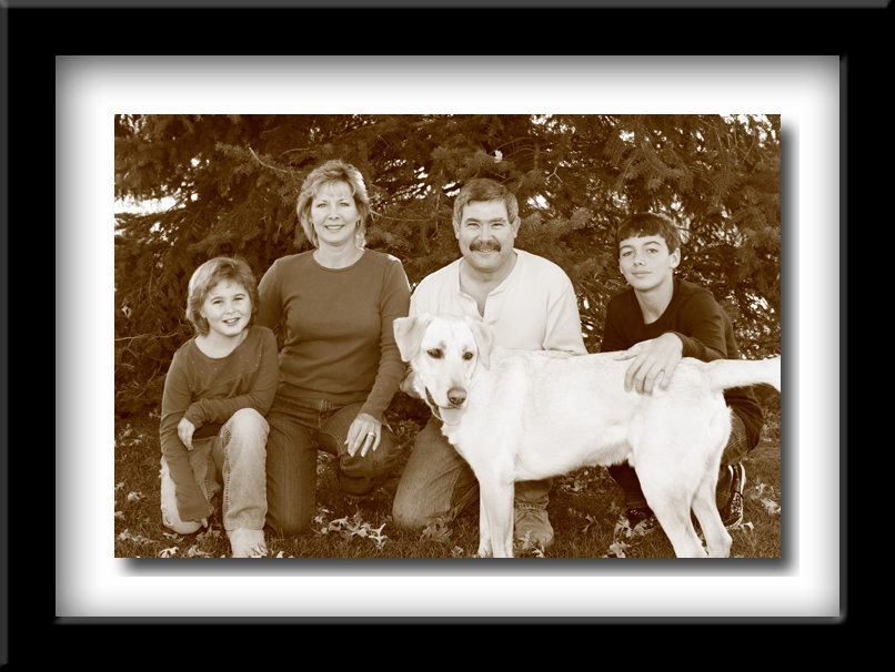 Black and white Family Portraits
