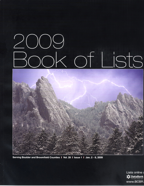 Boulder County Business Report Book of List Cover