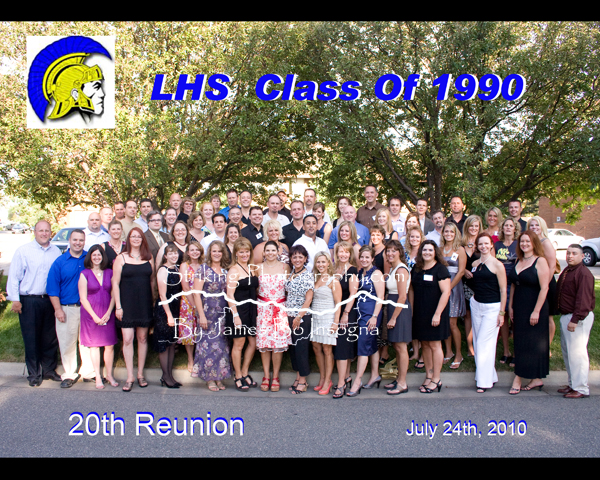 LHS 1990 Class Reunion Group Photo